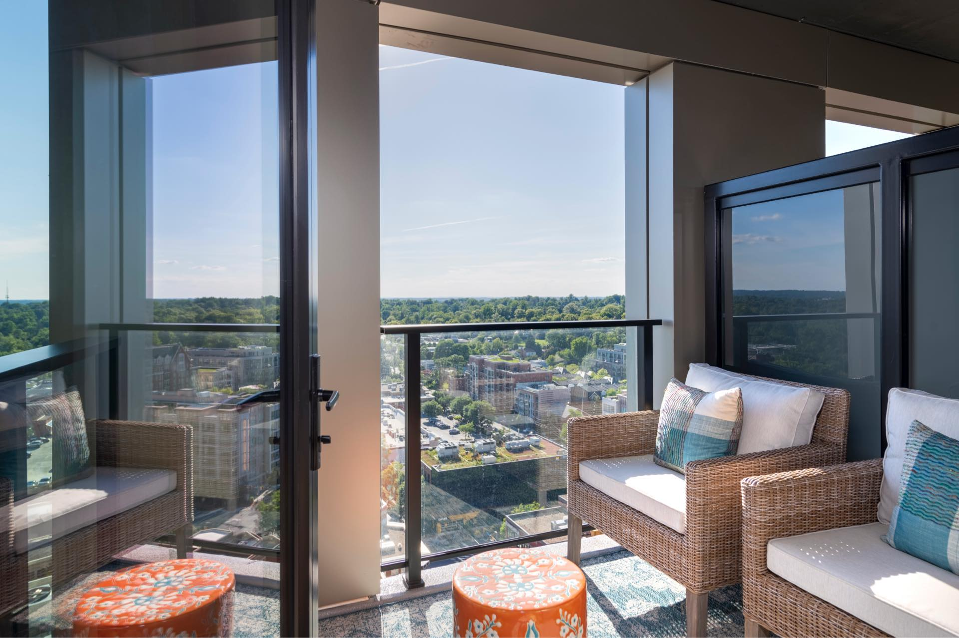 Private balconies and terraces* available in select residences.
