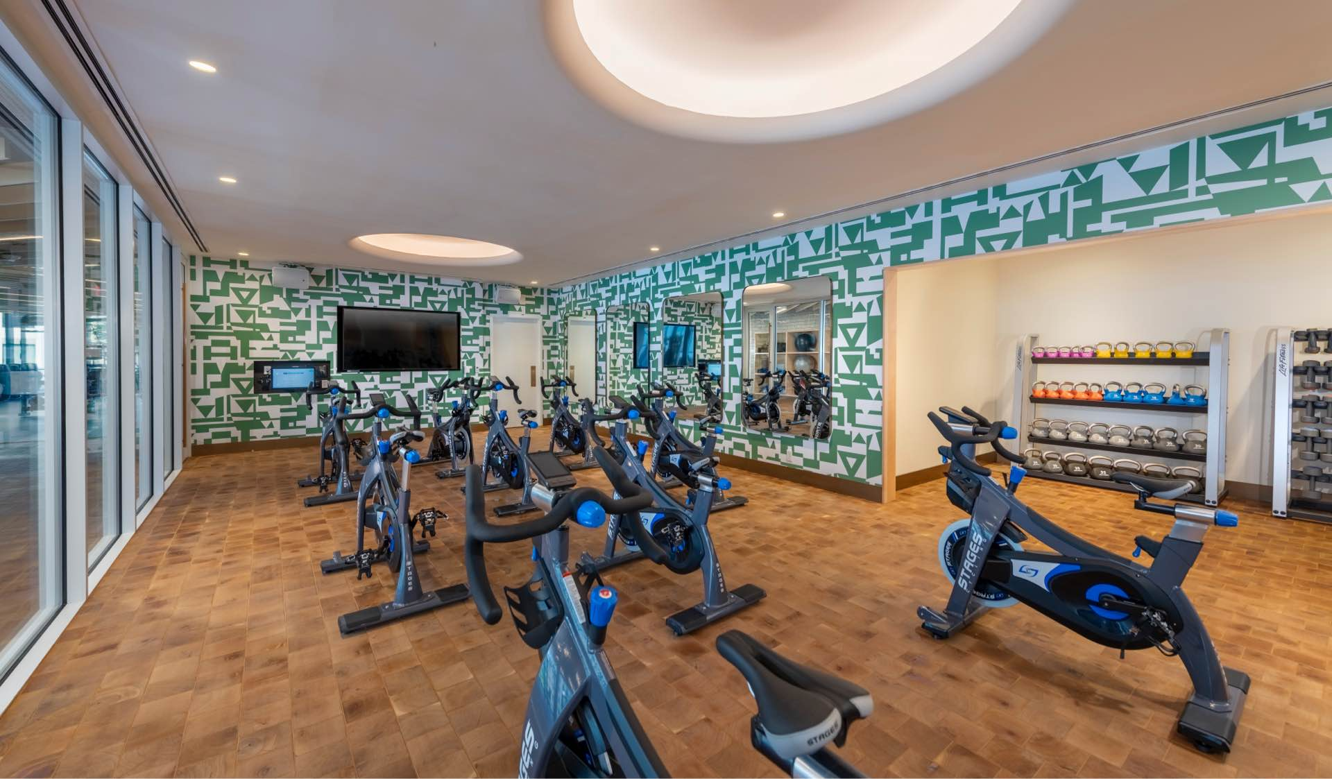 Curated Fitness Studio with 24-hour access and a private training area.