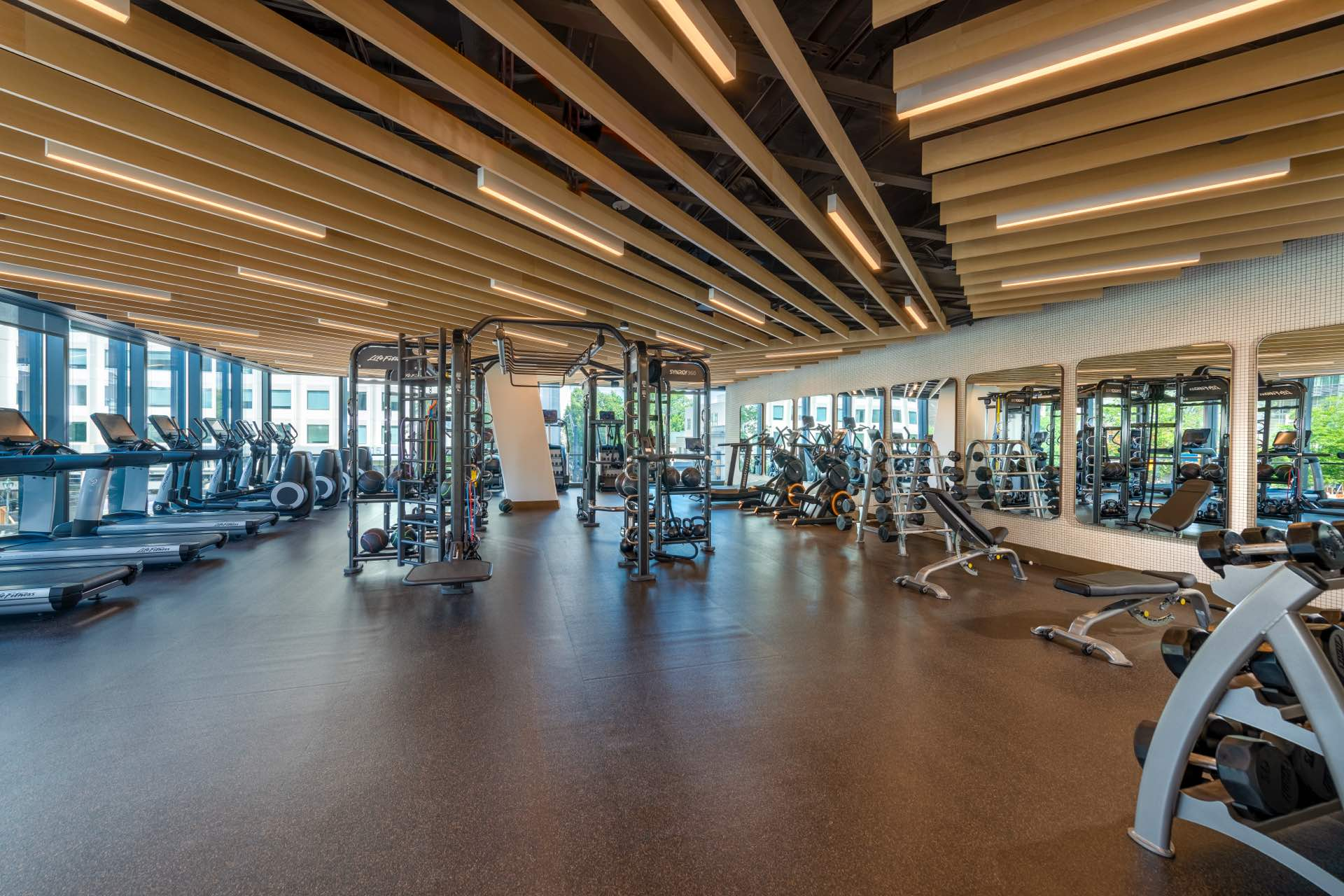 Ready to sweat? Find your flow in a dedicated, state-of-the-art fitness room.