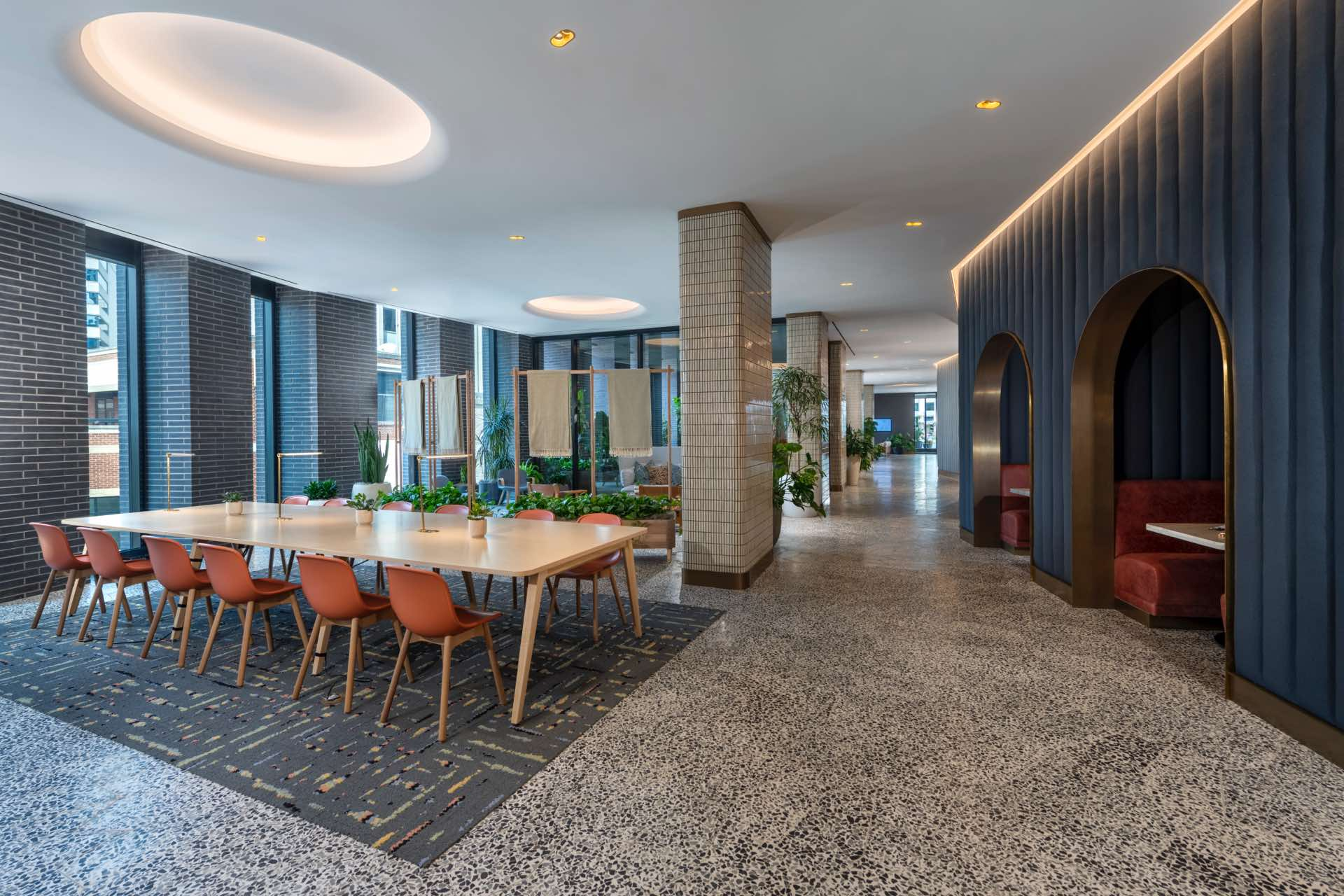 Driven by clean, contemporary design, the semi-private workspaces are a refreshing alternative to the office.